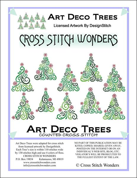 click here to view larger image of Art Deco Trees (chart)