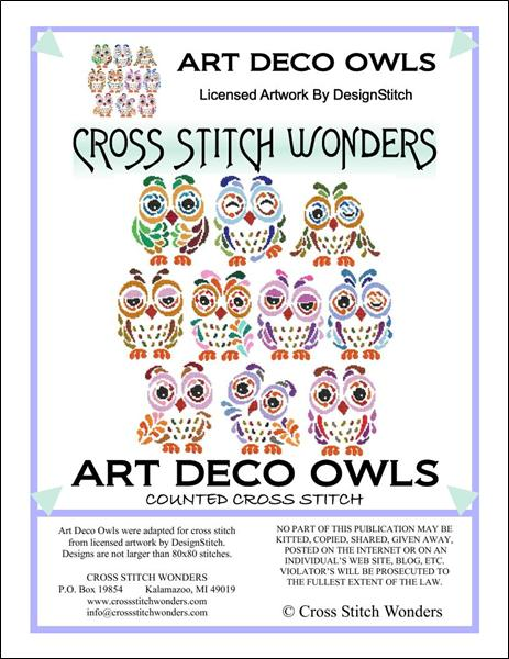 click here to view larger image of Art Deco Owls (chart)