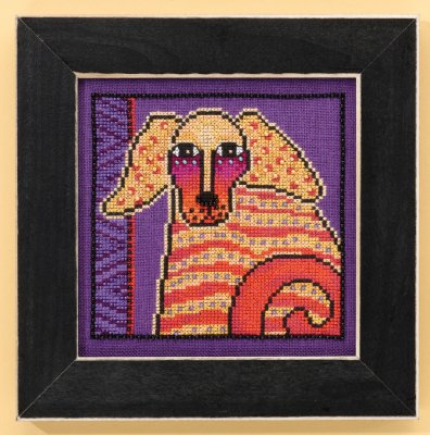 click here to view larger image of Goldie - Dogs Collection (Linen) (counted cross stitch kit)