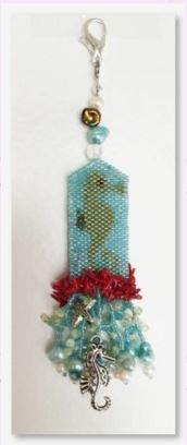 click here to view larger image of Sallys Seahorse Fob (bead kit)