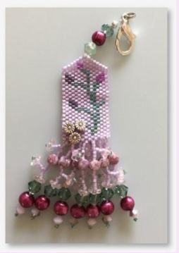 click here to view larger image of La La Lavender Fob (bead kit)