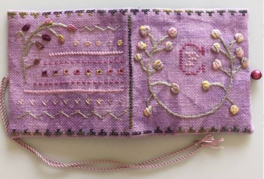 click here to view larger image of La La Lavender Needle Case (bead kit)