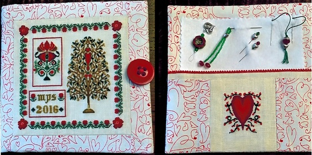 click here to view larger image of Garnet Garden Needlebook (counted cross stitch kit)