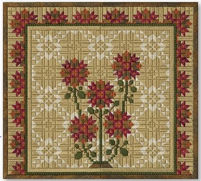 click here to view larger image of Autumn Mums (counted canvas chart)