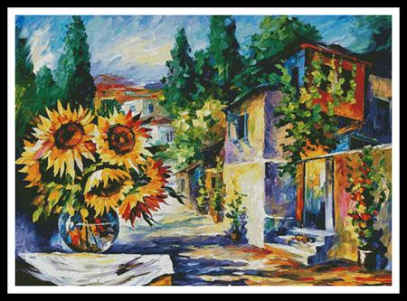click here to view larger image of Greek Noon - Large  (Leonid Afremov) (chart)