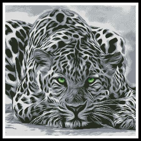 click here to view larger image of Black and White Leopard (chart)