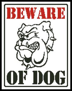 click here to view larger image of Beware Of Dog (chart)