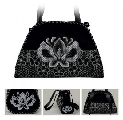 click here to view larger image of Evening Bag Graphite (counted cross stitch kit)