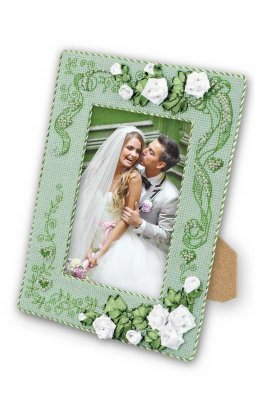 click here to view larger image of Photo Frame With Love (counted cross stitch kit)