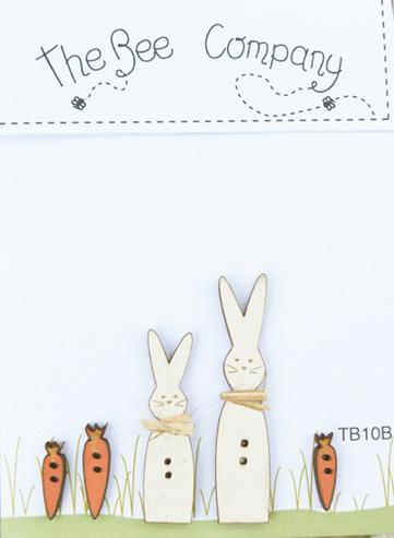 click here to view larger image of Easter Rabbit Buttons (buttons)