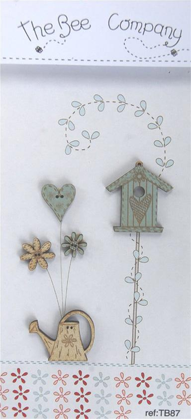 click here to view larger image of Birdhouse And Watercan Buttons (buttons)