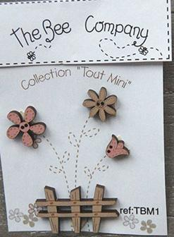 click here to view larger image of Mini Garden Flowers Buttons (buttons)