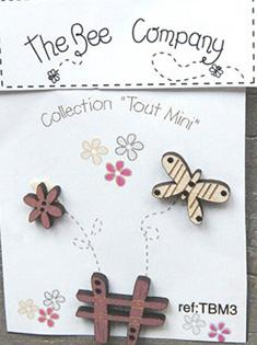 click here to view larger image of Mini Garden Butterfly Buttons (buttons)