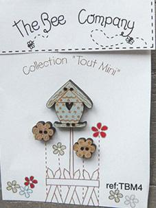 click here to view larger image of Mini Garden Birdhouse Buttons (buttons)