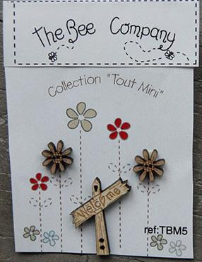 click here to view larger image of Mini Garden Welcome Sign Buttons (buttons)