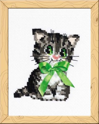 click here to view larger image of Bow (counted cross stitch kit)