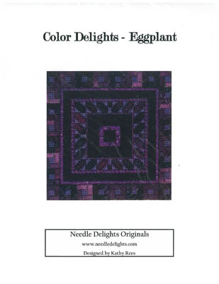click here to view larger image of Color Delights - Eggplant (counted canvas chart)