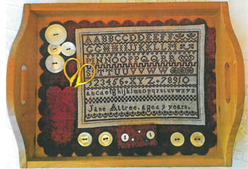 click here to view larger image of Jane Attree Sampler and Mat Cozy (chart)