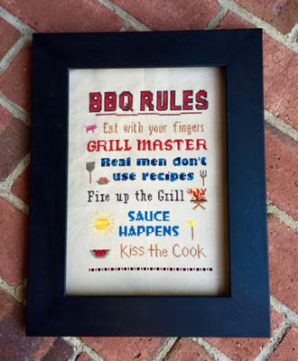 click here to view larger image of BBQ Rules (chart)