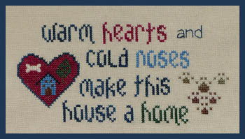 click here to view larger image of Warm Hearts - Cold Noses (chart)