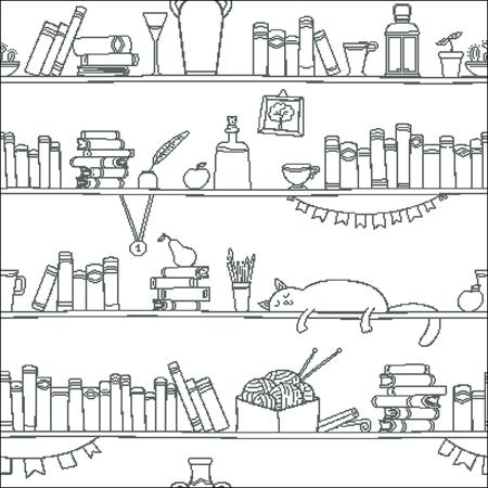 click here to view larger image of Cat Shelf Silhouette (chart)