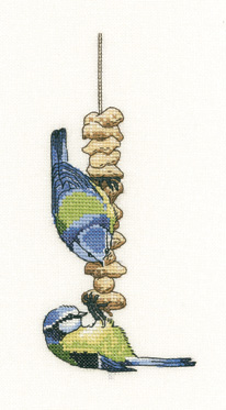 click here to view larger image of Blue Tits-  Little Darlings (Aida) (counted cross stitch kit)