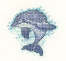 click here to view larger image of Dolphin - Little Friends Collection (Evenweave) (counted cross stitch kit)