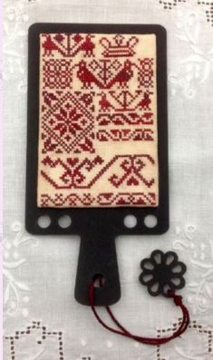 click here to view larger image of Islensk Sjonabok Hornbook Threadkeeper and Needleminder (Chart only) (counted cross stitch kit)