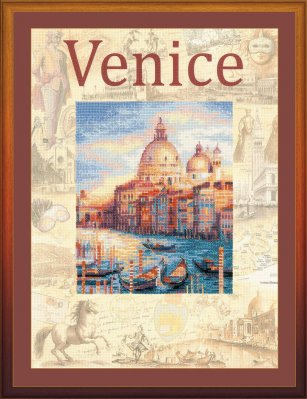click here to view larger image of Cities of the World - Venice (counted cross stitch kit)