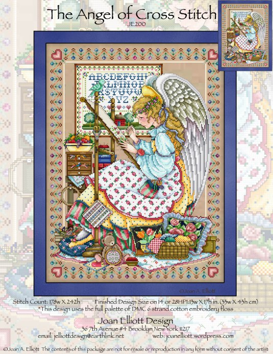 click here to view larger image of Angel of Cross Stitch, The (chart)