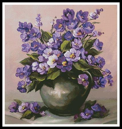 click here to view larger image of Vase of Violets (chart)