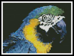 click here to view larger image of Mini Blue and Yellow Macaw (chart)