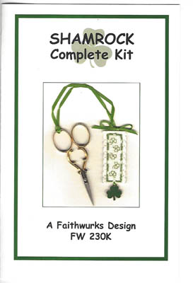 click here to view larger image of Shamrock Scissor Fob Kit (counted cross stitch kit)