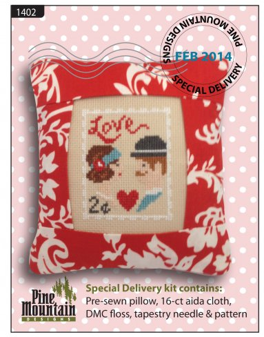 February Stamp - Aida - click here for more details about counted cross stitch kit