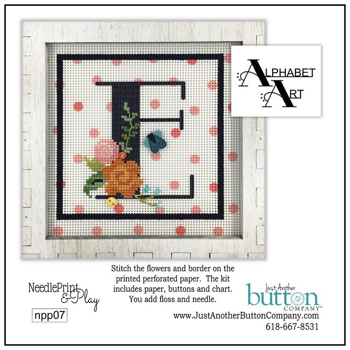 click here to view larger image of Alphabet E (counted cross stitch kit)