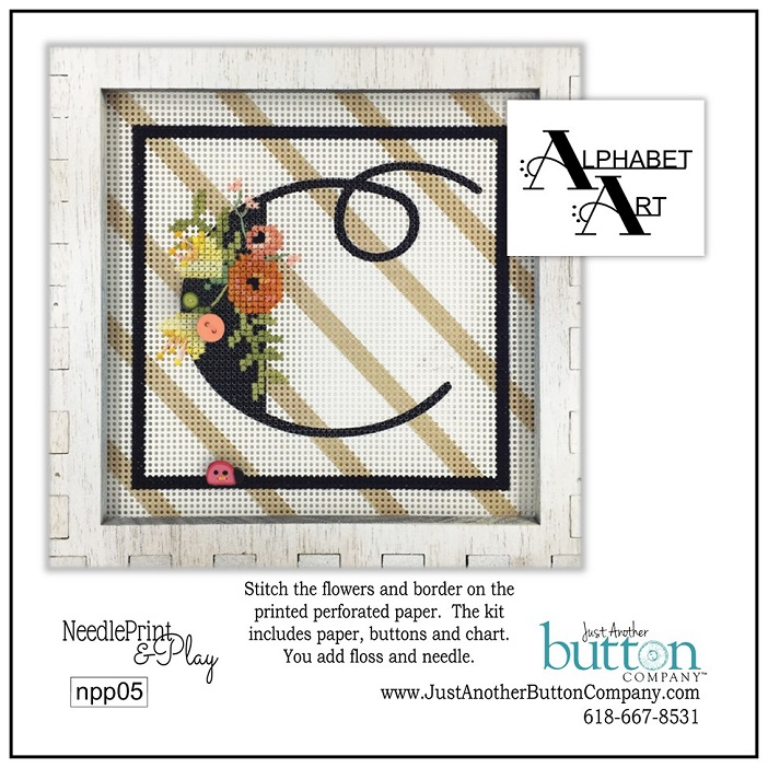 click here to view larger image of Alphabet C (counted cross stitch kit)