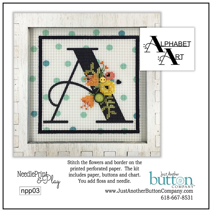 click here to view larger image of Alphabet A (counted cross stitch kit)