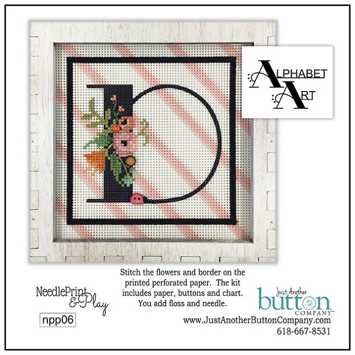 click here to view larger image of Alphabet D (counted cross stitch kit)
