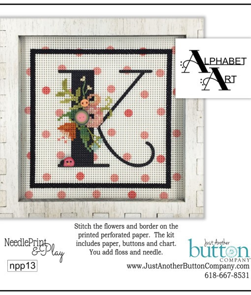click here to view larger image of Alphabet K (counted cross stitch kit)