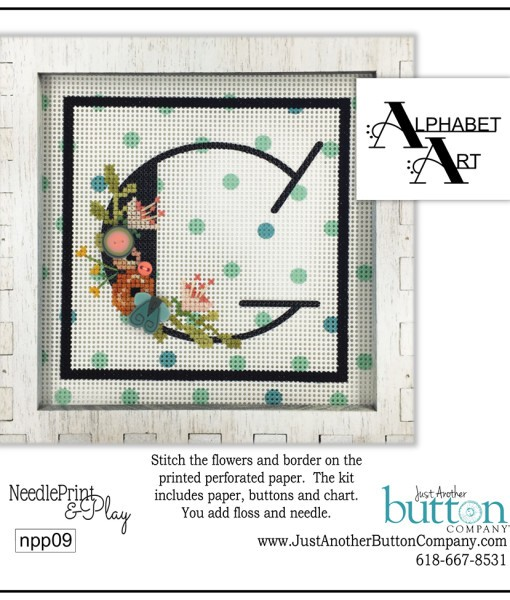 click here to view larger image of Alphabet G (counted cross stitch kit)