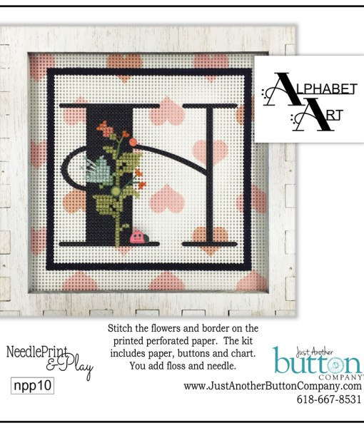 click here to view larger image of Alphabet H (counted cross stitch kit)