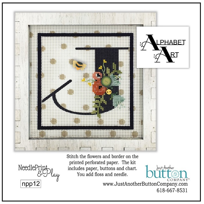 click here to view larger image of Alphabet J (counted cross stitch kit)