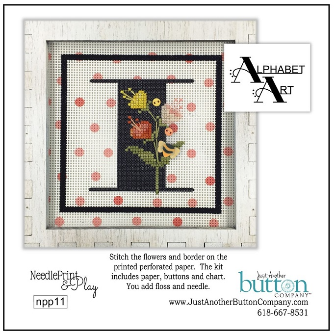 click here to view larger image of Alphabet I (counted cross stitch kit)