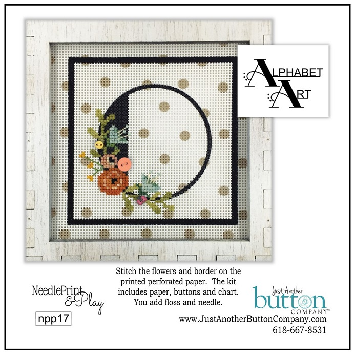click here to view larger image of Alphabet O (counted cross stitch kit)