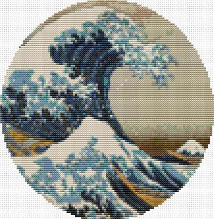 click here to view larger image of Great Wave Off Of Kanagawa - Circle (chart)