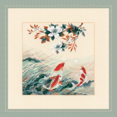 click here to view larger image of Dancing Fish (counted cross stitch kit)
