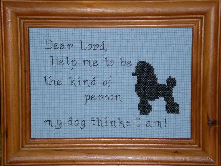 click here to view larger image of Dear Lord - My Dog (chart)