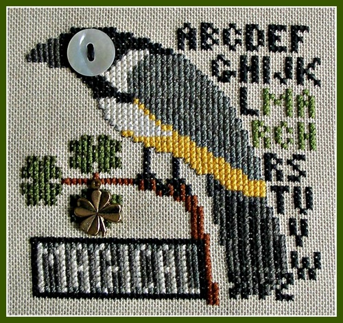 click here to view larger image of Birds Eye - Magical March (chart with charms/buttons)