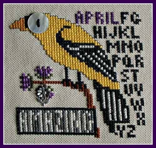 click here to view larger image of Birds Eye - Amazing April (chart with charms/buttons)