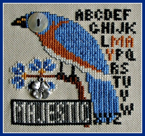 click here to view larger image of Birds Eye - Majestic May (chart with charms/buttons)